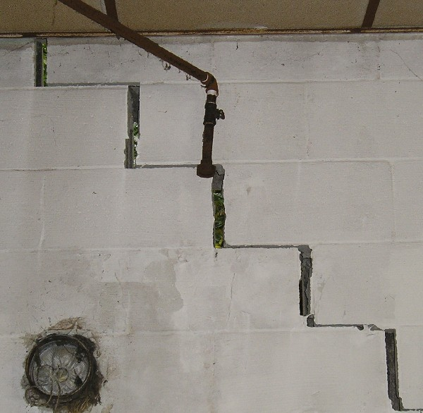 wall crack repair pennsylvania ohio matthews wall anchor
