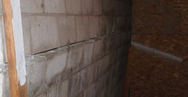 The Picture To The Left Shows What Bowing Walls Look Like. Basement Walls  May Fail From The Pressure Of The Soil Around It. The Structure Is Designed  To ...