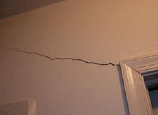 wall crack, Altoona, PA