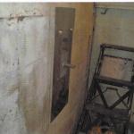 wall anchor inside of basement
