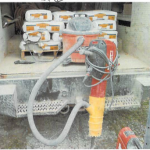 jackhammer vacuum for sump pit installation