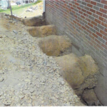 damaged foundation being repaired in PA