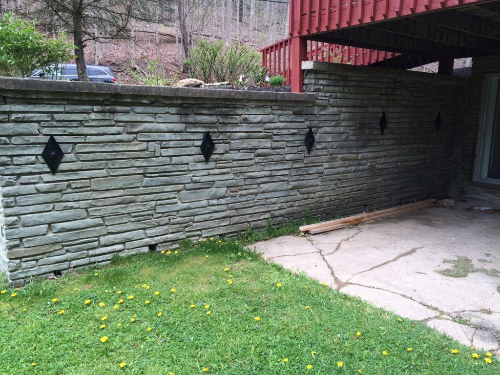retaining wall repair, PA