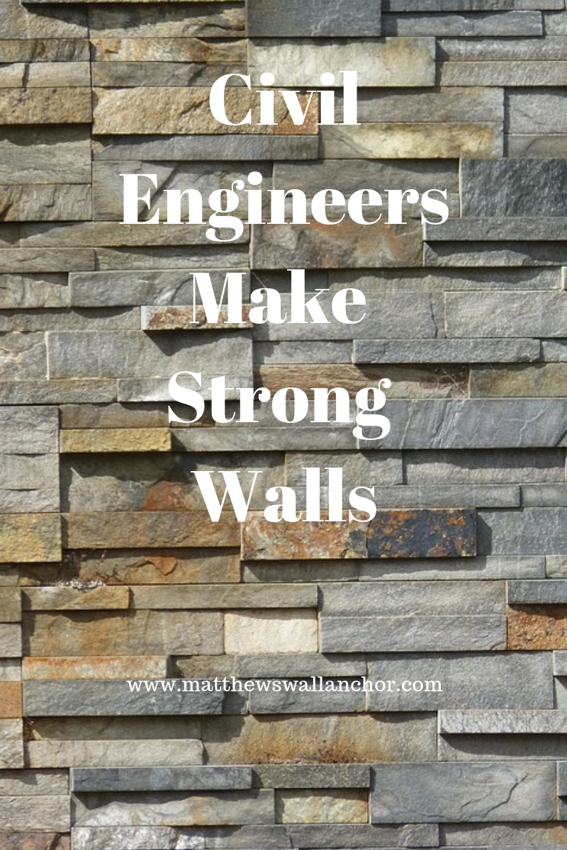 Civil engineers make strong retaining walls
