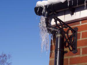 Frozen gutter