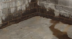 Basement floor leaks