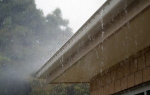 rain gutters leaking